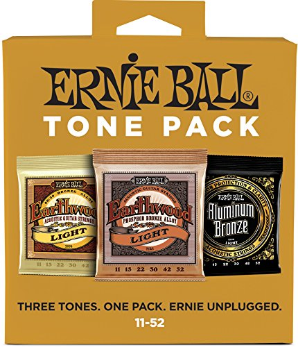 Ernie Ball 3314 Acoustic Guitar String Tone 3 Pack Assortment , Light