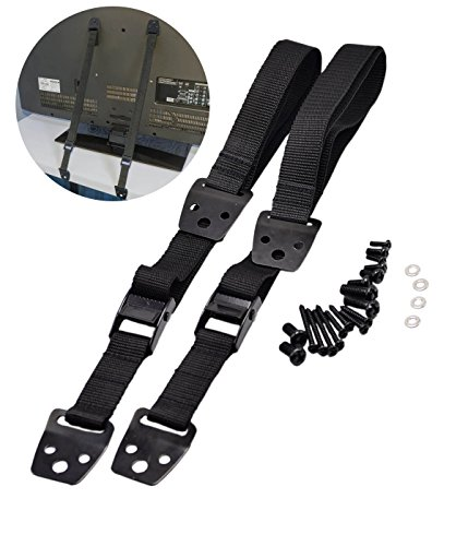 MOT Global Metal Furniture and TV Straps - Anti-Tip Straps for Baby Safety, Pack of 2 (Mounting Hardware Included)