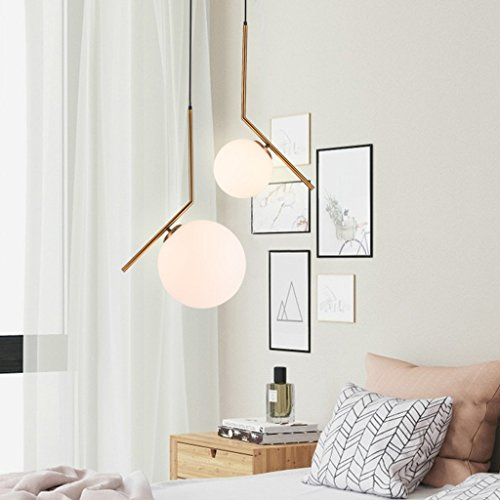 Wsxxn Luxury Creative Chandelier with Nordic Pendant Light, Personalized Bedside Candelabra and Mini Bedside Lamps Pendant Lighting Lantern Lamps (Size : Diameter 20cm) by Wsxxn (Image #4)