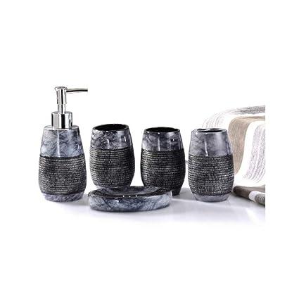 Accessori Bagno In Marmo.Acseven Stile Semplice Marmo Motivi Decorativi Cinque Pezzi