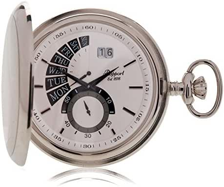 Rapport London Oxford Full Hunter Retrograde Pocket Watch - Silver Plated