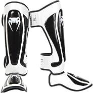 Venum 0281-M Predator Standup Shinguards, Black/White, Medium