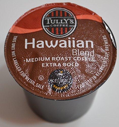 Tully's Coffee 16 K-cups .40oz  Each Hawaiian Blend Medium R