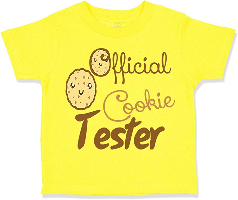 Custom Toddler T-Shirt Official Cookie Tester Funny Humor Boy /& Girl Clothes