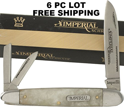 Smol Store 6 LOT Imperial Schrade Cracked Ice Pearl 4