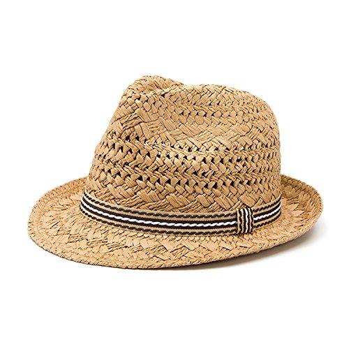 (CAOBOO Fedora Hat Sunhat Men Panama Hat Gangster Cap Good Pack 25)