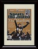 Framed Josh Beckett Sports Illustrated Autograph Replica Print - 2003 - Marlins Champs!