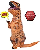 Rubies Costume Jurassic World Childs T-Rex Inflatable Costume with Sound, Multicolor, One Size