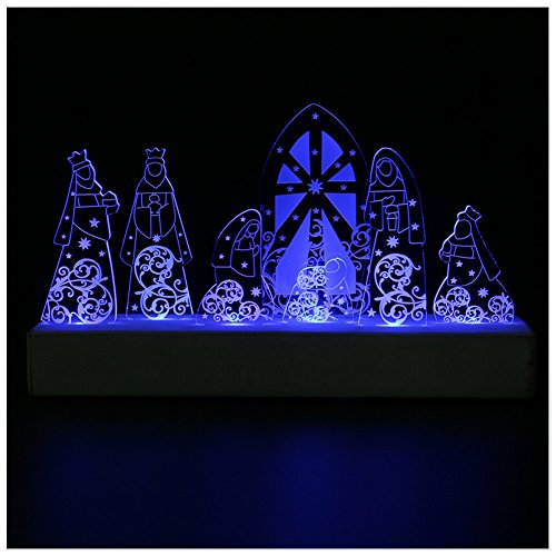 Giftgarden Holy Family LED Decor in Nativity Set for Christian gifts, Catholic gift