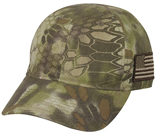 Camo Hunting Cap - Kryptek Tonal Side American Flag Cap, Kryptek Highlander Camo