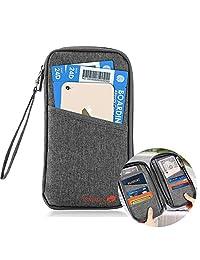 Letour Carteras para Pasaporte Portadocumentos para Viaje Porta Pasaportes Práctico Cómodo para Llevar Gris