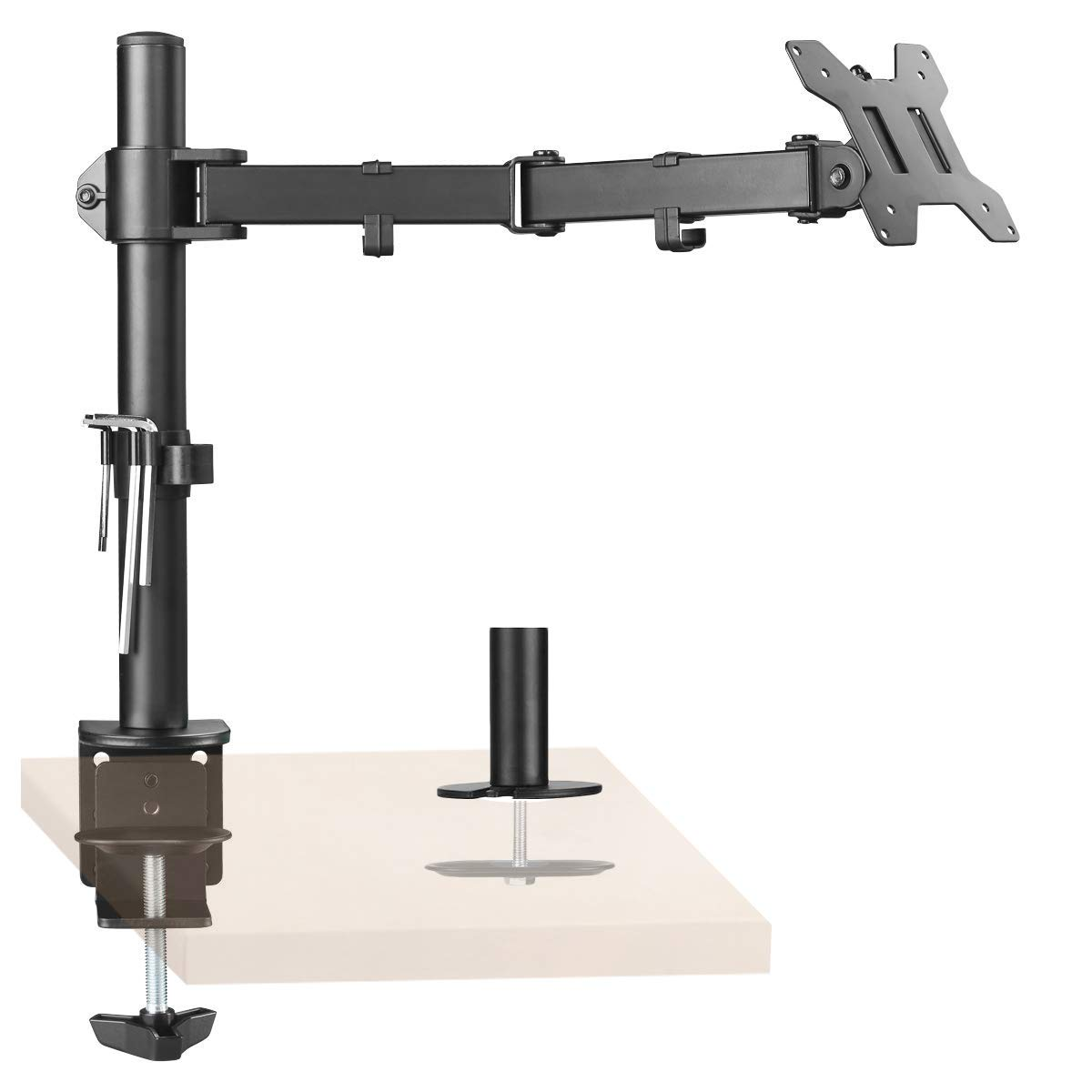 VESA 75//100 Suptek Full Motion Laptop Riser Desk Mount Stand MD6821TP004 up to 22lbs