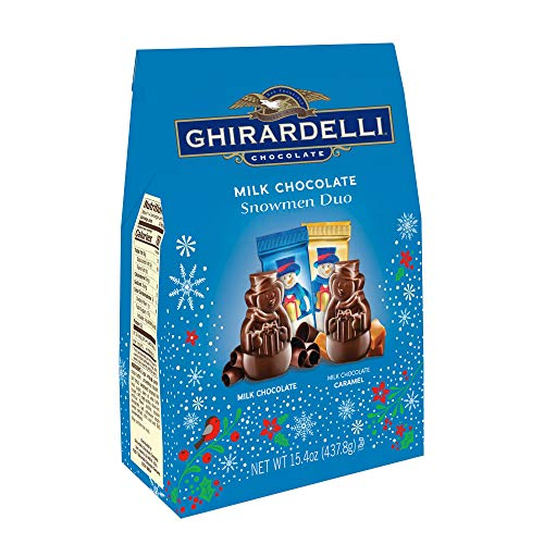 - Ghirardelli Flat Back Milk Chocolate Snowman, 15.4 Ounce