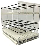 Vertical Spice - 222x1.5x11 DC - Spice Rack - 3 Drawers - 15 Regular/15 Half-size Capacity - Cabinet Mounted