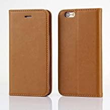 apple iphone SE / iPhone5/ 5S Case, Luxury Synthetic PU Leather Protective Flip Folio Pouch Wallet Case Cover with Credit Card Holder iphone5S iphoneSE Case (brown)
