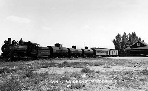 Minden, Nevada - View of the Virginia and Truckee Railroad Train (16x24 SIGNED Print Master Giclee Print w/ Certificate of Authenticity - Wall Decor Travel ()