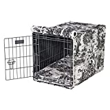 Luxury Crate Cover in Onyx Toile (XL - 28 in. L x 42 in. W x 30 in. H)