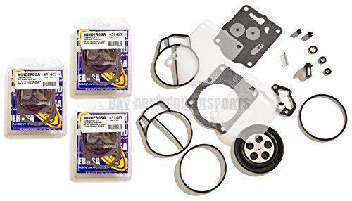 Mikuni Rebuild Kits (TRIPLE MIKUNI CARB REBUILD KIT YAMAHA XL XLT 1200 GP1200R GPR1200 XL1200 XLT1200)