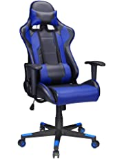 Polar Aurora Gaming Chair Racing Style High-Back PU Leather Computer Desk Chair Modern Office Chair Executive and Ergonomic Style Swivel Chair with Headrest and Lumbar Support 3 Color