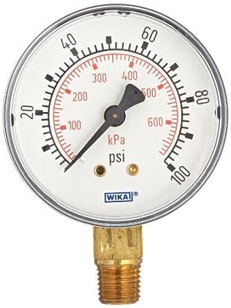 """30/"""" Hg VAC//100 Psi 1//4/"""" NPT 2.5/"""" Dial Calibrador de presión"""