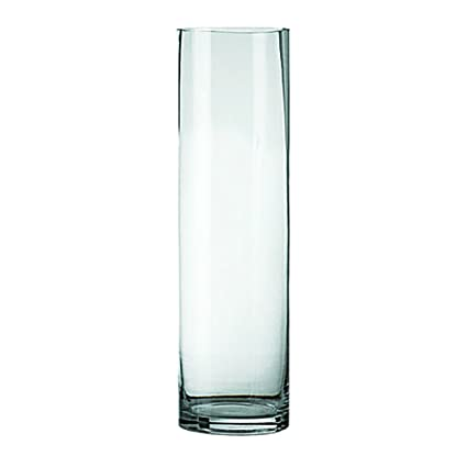 Amazon Clear Cylinders Glass Vase 6 Inch Open 18 Inch