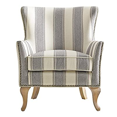 Dorel Living Reva Accent Chair, Gray - Traditional design with a modern flair Classic flared arms and an arched backrest Loose Seat Cushion for easy cleaning - living-room-furniture, living-room, accent-chairs - 51RFoR%2BVK0L. SS400  -