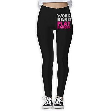 aee5207947b4b JHWJ@KU Women's Yoga Pants Work Hard Play Harder Athletic Capris Leggings