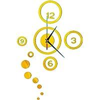 LAMEIDA Reloj de Pared 3D del Etiqueta