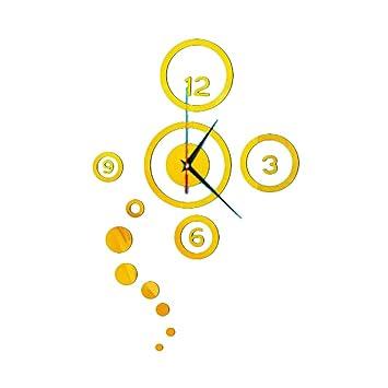LAMEIDA Reloj de Pared 3D del Etiqueta de la Pared Adhesivo de Reloj Digital de Pared DIY Moderno decoración de Reloj Espejo Accesorios Decorativos de Pared ...