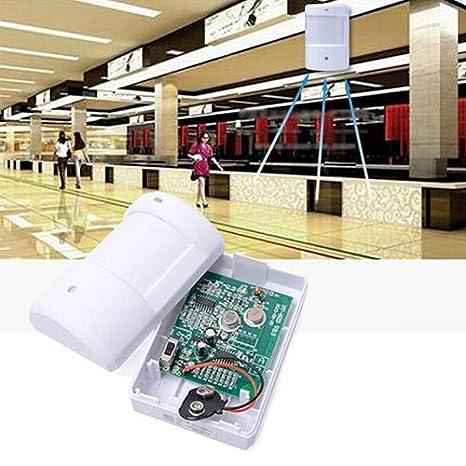 Door Bell - 1 Set Wireless Infrared Monitor Sensor Sensitive Detector Exterior Courtesy Door Bell Alarm