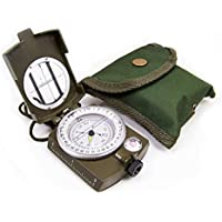 Wotefusi New Portable Military Army Compass With Neck Strap Belt Carry Pouch For Outdoor Sports Hiking Camping Climbing