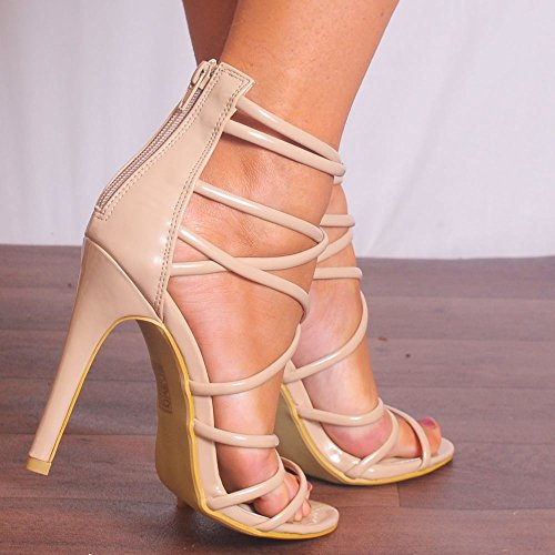 Brevet Ouvert EURO37 Shoe Talon Nues Haut Dames UK4 Sandals Closet USA6 AUS5 Chaussures Stiletto Strappy ZZqUt