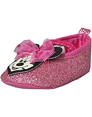 Minnie Mouse Baby Girls Pink Sparkling Dress Shoes