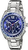 Stuhrling Original Men's 814.02 Octane Swiss Quartz Multifunction Blue Dial Stainless Steel Watch