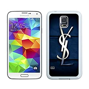 Fashionable And Beautiful Designed Case For Samsung Galaxy S5 I9600 G900a G900v G900p G900t G900w With YSL 11 White Phone Case
