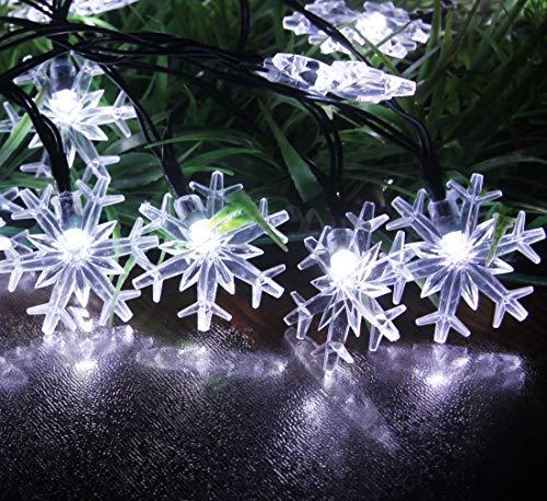 Snowflake Solar Christmas Lights in US - 8