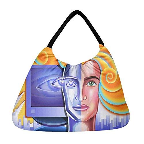 Damen Snoogg Strandtasche Snoogg mehrfarbig mehrfarbig Damen wx140W5qEf