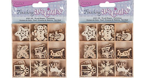 (Finishing Accents Mini Laser Cuts Wood Shapes Holiday Theme - 90 Pieces)