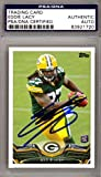 Eddie Lacy Autographed Signed 2013 Topps Rookie Card Green Bay Packers - PSA/DNA Certified - Football Slabbed Autographed Rookie Cards