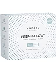 NuFACE Prep-N-Glow Cloths | Cleansing, Exfoliating, and Hydrating Wipes | Enriched with Hyaluronic Acid | Pack of 20