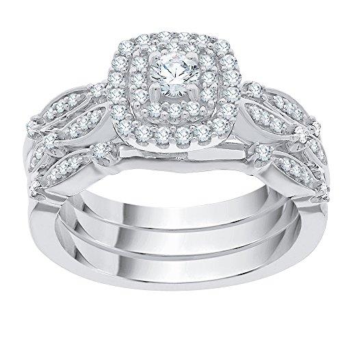 KATARINA Diamond Bridal Set in Sterling Silver (1/2 cttw, G-H, I2-I3) ()