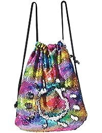 Mermaid Bag Sequin Drawstring Backpack Dancing Bag Fashion Dance Bag Sequin Backpack Flip Sequin Bling Bag for Beach Hiking Bags