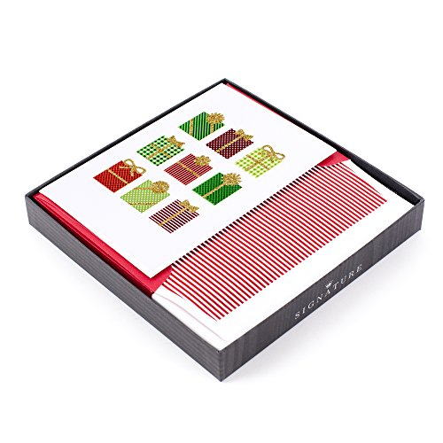 Hallmark Signature Holiday Boxed Cards (Festive Gifts, 8 Christmas Greeting Cards and 8 Envelopes)