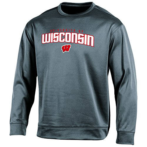 Champion (CHAFK) NCAA Wisconsin Badgers Adult Men Long sleeve Crew Neck Fle, XX-Large, ()