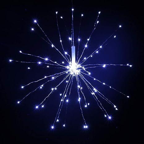 ledmomo Juego Fuegos artificiales String Noche luces LED flexible tira luces con 120 bombillas para Navidad