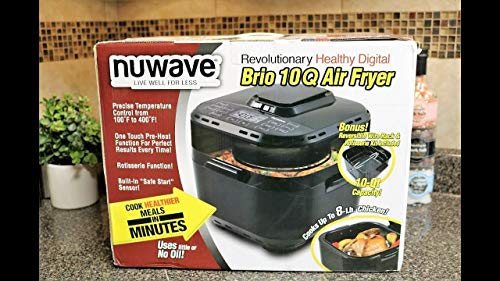 Nuwave Brio 10 qt. Air Fryer with Large Size Gourmet Accessory Kit