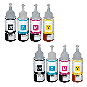 Colour Direct 2 Conjuntos Compatible Botella de Tinta de Recarga Reemplazo por Epson T6641 T6642 T6643 T6644 - EcoTank ET-14000 ET-2500 ET-2550 ...