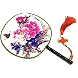 Attractive Chinese Round Fan Classical Dancing Dan With Beautiful Pattern, #3