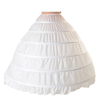 CoCogirls 6 Ringe Unterrock Petticoat Underskirt für Hochzeit ...