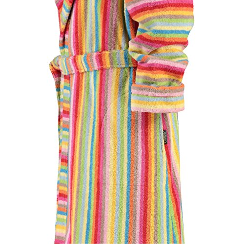 Cawoe femmes peignoir avec capuche Lifestyle 7081 rayures colorées - Multi-couleur